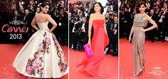 #RedCarpet #Sonam Kapoor #Madame Inés de la Fressange y #Freida Pinto #Look #MakeUp #Cannes