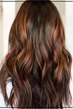 Trendy Hair Color Highlights : Cinnamon Brown with Golden Auburn Balayage Hair Color Auburn, Hair Color Highlights, Ombre Hair Color, Brown Hair Colors, Brown Hair Copper Highlights, Brown Auburn Hair, Brunette Caramel Highlights, Ombre For Dark Hair, Red Balayage Highlights