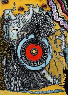 KODAMA       pen drawing     13x18cm  2014 www.arteditomoko.com
