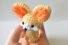 Fennekin Amigurumi Pattern by rachaek on Etsy, Fennek fox, $3