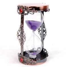 Metal Sand Timer With Glass