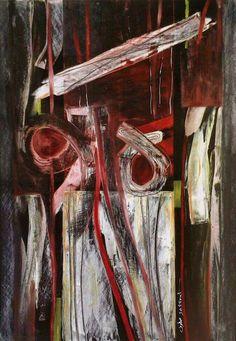 إحسان صطوف ( بلا عنوان ) 2004 Ehssan Sattouf (No Title) 100×70 cm   Oil on paper
