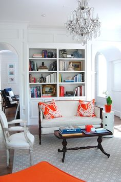 a pop of bright orange! You can change the color throughout the year accordingly. Perfect!
