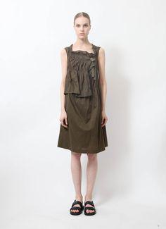 Comme des Garçons | Ruffled Cotton Dress | RESEE