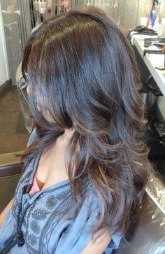 long hair, long layers.  beautiful!