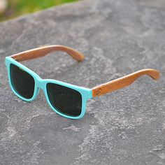 Wood Sunglasses Teal Handmade Wooden Wayfarer Indie Retro Ray-Ban Bamboo Sunglasses  http://www.etsy.com/listing/120757981/wood-sunglasses-teal-handmade-wooden?ref=usr_faveitems_uid=29226161