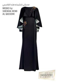 Medici by Sheikha Hend Al Qassemi with Swarovski crystals #crystallovesabaya