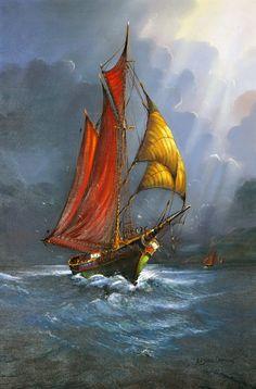 Digital copy of original 24 X 36 inch oil painting.