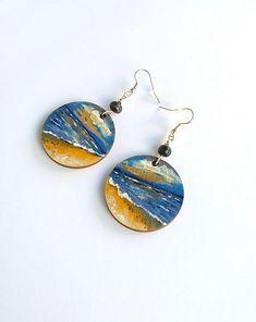 Kolczyki ręcznie malowane Nadmorski krajobraz - kolczyki - drewno - Pakamera.pl Drop Earrings, Jewelry, Jewlery, Jewerly, Schmuck, Drop Earring, Jewels, Jewelery, Fine Jewelry