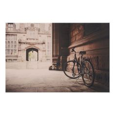 Bike | Vintage | Castle Poster - vintage gifts retro ideas cyo