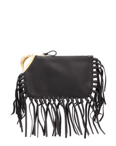 Leather Clutch by @Valentino