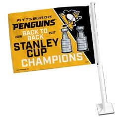 Pittsburgh Penguins 2017 NHL Stanley Cup Champions Car Auto Window Flag #RicoIndustries #PittsburghPenguins