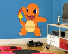 Huge Charmander Pokemon Decal Removable Wall Sticker Home Decor Peel Stick | eBay