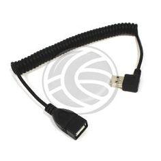 Cable compatible USB 2.0 con conector tipo A macho acodado en un extremo y A hembra recto en el otro. Hace la función de prolongador. El conector USB acodado A macho facilita la conexión en espacios reducidos. Cable rizado (retraible) de 1m de longitud.