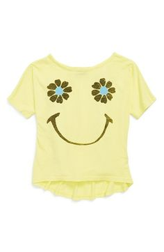 Junk Food 'Smile' Tee (Little Girls & Big Girls) | Available at Nordstrom