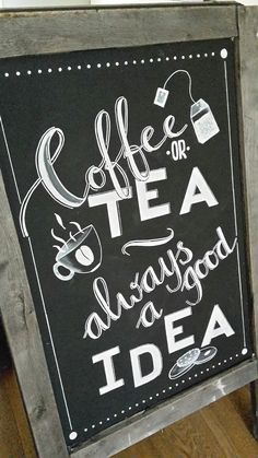 Coffee tea chalkboard Art-Is-T