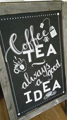 Coffee tea chalkboard Art-Is-T