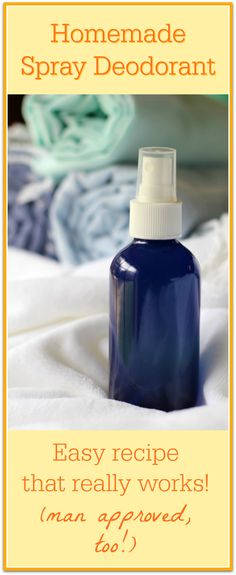 This is my favorite homemade spray deodorant recipe! My husband even loves it!