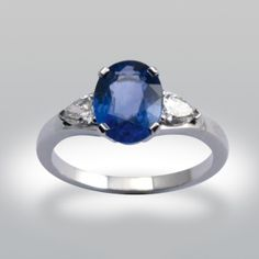 bague de fiancaille, fiancailles, de fiançailles, saphir, diamants poire