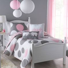 product image for VCNY Pink Parade Reversible Comforter Set in Pink/Grey