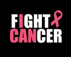 Fight Cancer I Can Breast Cancer Awareness Pink Ribbon Iron On Vinyl or glitter vinyl Heat T-shirt Transfer.    With a hot iron you are