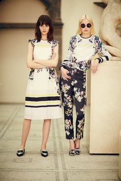 leahcultice:    Irene Hiemstra and Marta Dyks for Erdem Resort 2014