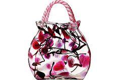 Blown-Glass Handbag Vase