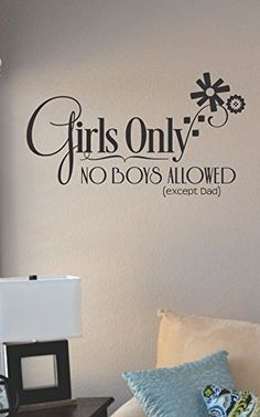 Girls only no boys allowed Vinyl Wall Art Decal Sticker JS Artworks http://www.amazon.com/dp/B00N99UIGA/ref=cm_sw_r_pi_dp_n6jeub0YTJVNJ
