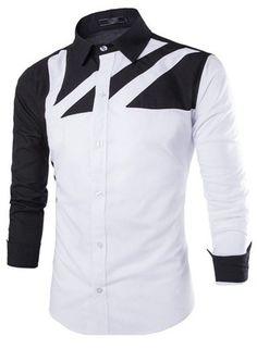 Camisa Casual Fashion Juvenil con Manga en Contraste - Diseño Moderno - Blanca