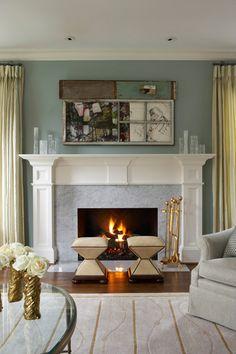 Beautiful Fireplace White Mantel Mantels Mantles Somerset Collection Michigan Blue