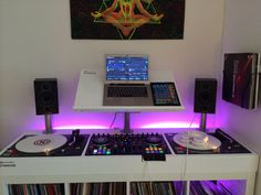 DJ set-up #dj #djculture #djgear #music #twoturntables http://www.pinterest.com/TheHitman14/dj-culture-vinyl-fantasy/