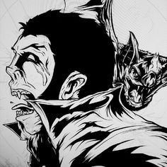 Vampyre #WIP, starting to come together. #monster #ink