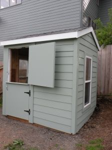 Cute goat shed for a playhouse