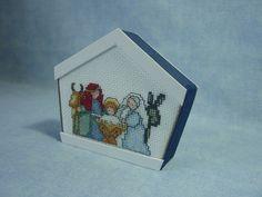 Cross stitch nativity ornament...and a darling way to finish it!!