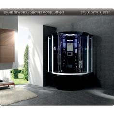 "STEAM SHOWER ENCLOSURE SAUNA HOT TUB SHOWERS BATH SPA WHIRLPOOL w/ 8.4"" TV, HEATER, 40 JETS, MP3/MP4 - Amazon.com ---- OMGoodness yes!"