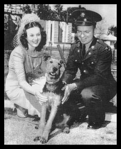 On the 6th of March, 1941, Deanna Durbin presented Private Everett Scott of Fort Ord a 6 month old Airedale dog called Mickey as a replacement for his previous pet Laddie who had died of a broken heart.