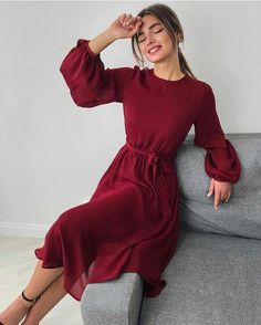 30 Beautiful and Modest Dresses for Elegant Ladies — Classy Outfit Ideas Elegant Outfit, Classy Dress, Classy Outfits, Elegant Dresses, Pretty Dresses, Casual Outfits, Cute Simple Dresses, Chic Dress, Modest Dresses