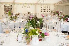 English country garden vintage wedding marquee details - 1007
