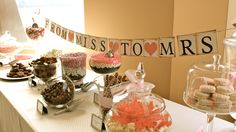 A candy table we made for a bridal shower. www.candyliciousnj.com