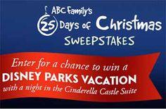 ABC 25 days Christmas abcfamily/25DaysSweeps   25 Days of Christmas Sweepstakes - Disney Vacation..