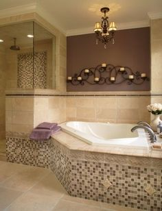 L Shaped Master Bathrooms Design Ideas, Pictures, Remodel and Decor