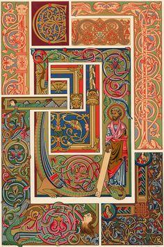 Décoration Style Moyen AGE ART Religieux Lithographie Xixème | eBay