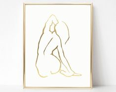 Nude Art Prints Original Figure Drawings Minimal Line Minimal Drawings, Simple Line Drawings, Cool Drawings, Pencil Drawings, Modern Art Prints, Fine Art Prints, Wall Prints, Large Prints, Figure Drawing Female