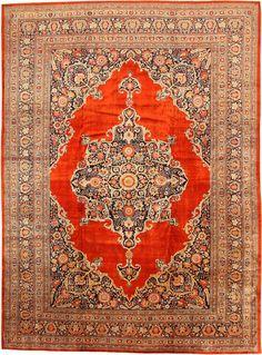 Antique Silk Tabriz Persian Rug 7991 Main Image - By Nazmiyal