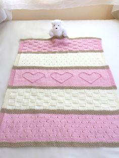 Baby Blanket Pattern Knit Baby Blanket di DeborahOLearyPattern