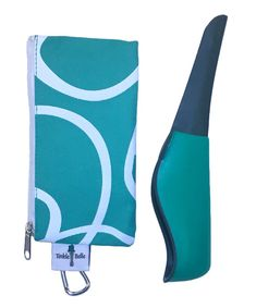 The Tinkle Belle Portable Female Urination Device   Portable Urinal, Teal and Grey with Case