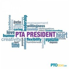 PTA President Word Cloud