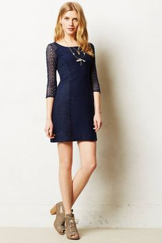Loving everything about this! Laced Frost Dress - anthropologie.com