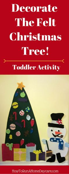 Make this Easy DIY Felt Tree for your toddlers to decorate again and again with felt ornaments! No sew. Quick. Simple Design.