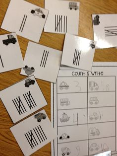 Tally Mark Fun.  Activities for math stations